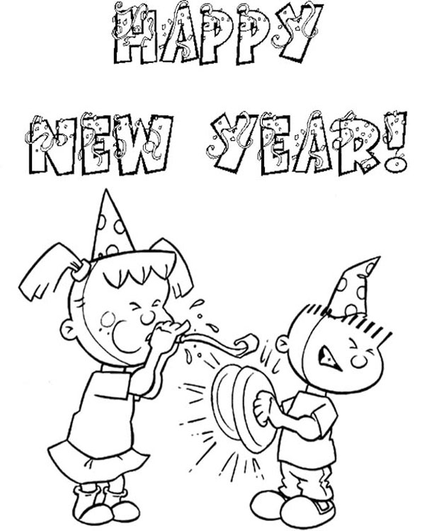 600x750 Free Happy New Year Colouring Pages For Kids