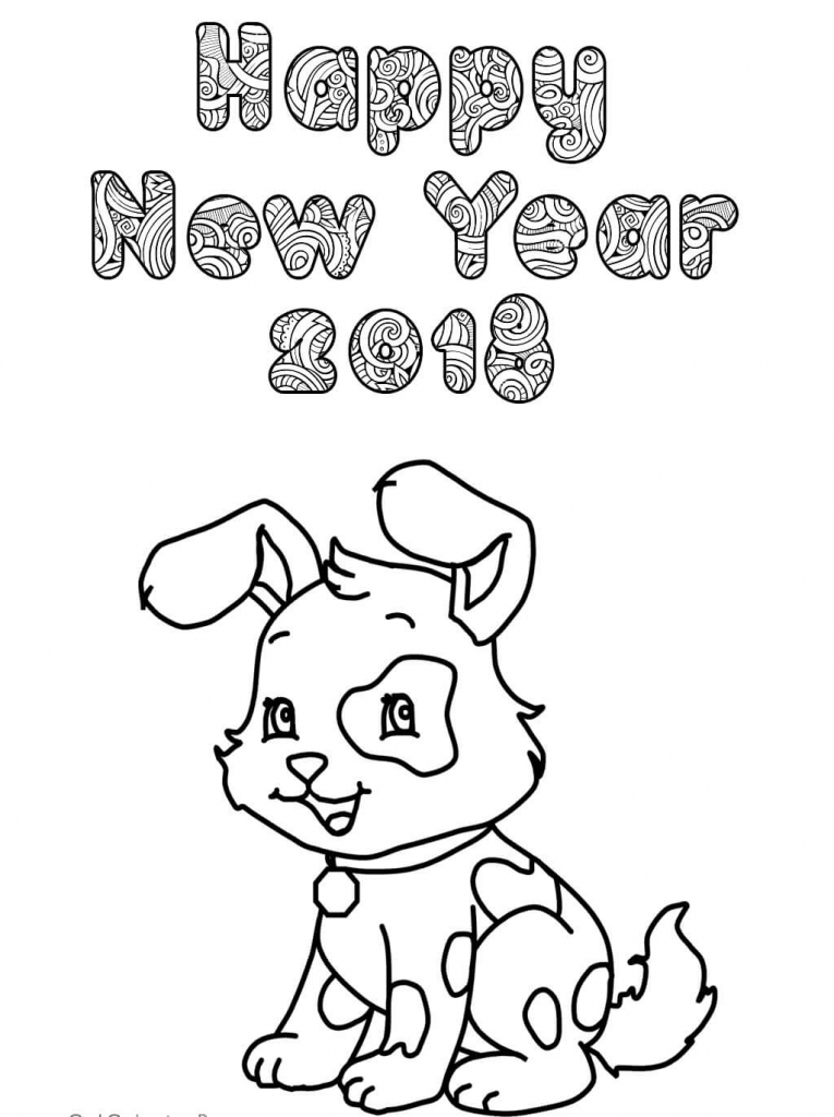 765x1024 Printable New Year 2018 Coloring Pages