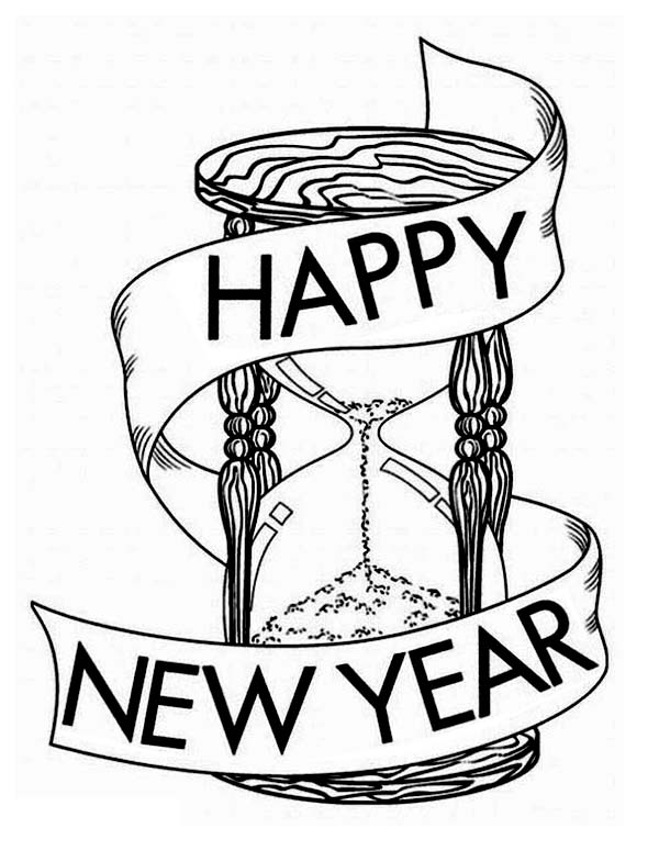 600x785 Wishing A Joyful And Happy 2015 New Year Coloring Page Coloring Sky