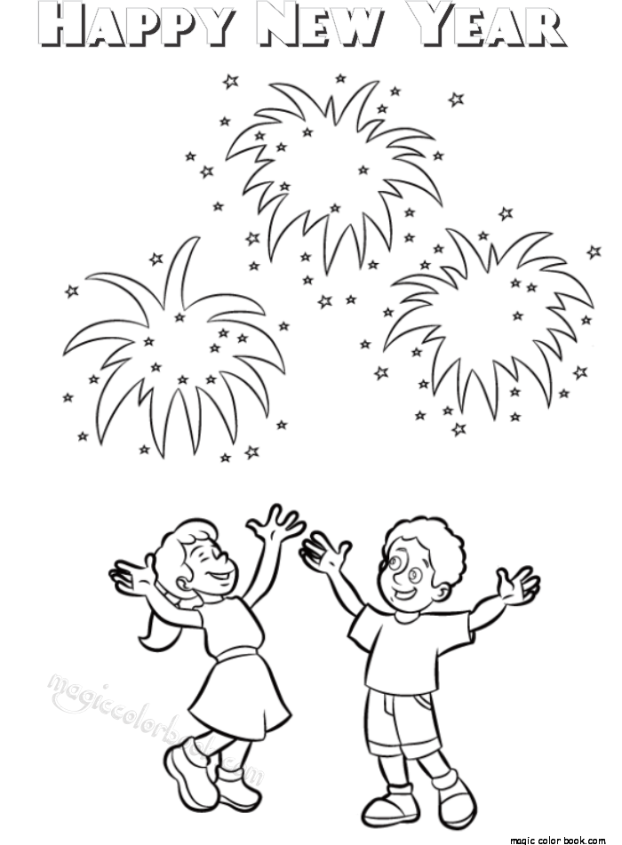 700x951 Coloring Pages For Kids Happy New Year Archives