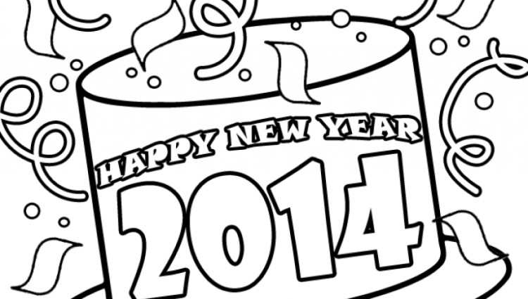 750x425 Happy New Year Coloring Page Discovery Kids Within New Year