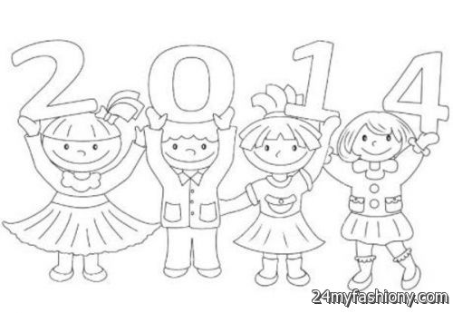 500x345 Happy New Year Coloring Pages For Kids Images 2016 2017 B2b Fashion