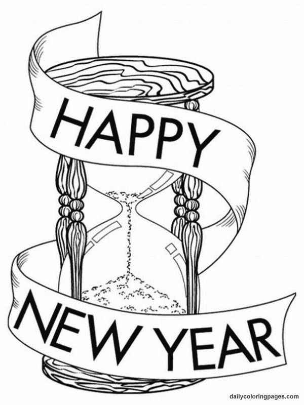 600x800 New Year Clock Clipart Black And White 8 Nice Clip Art