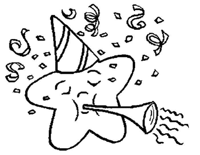 700x544 Pictures Star New Year Eve Coloring Pages