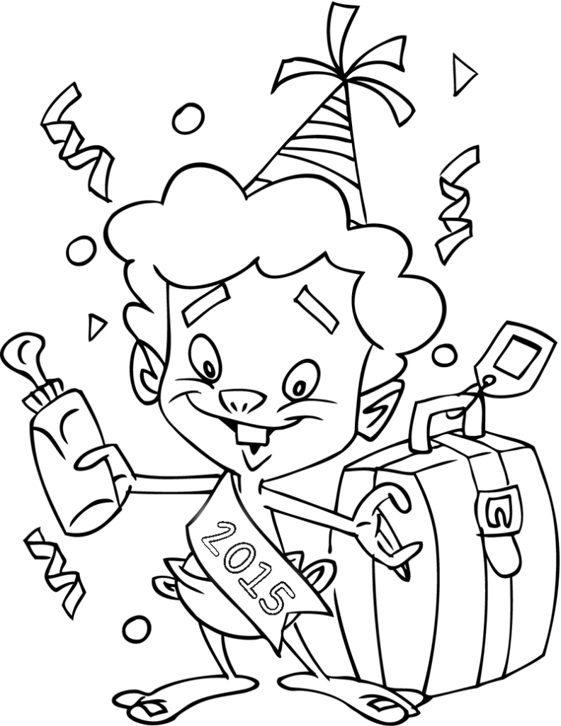 792x1024 Happy New Years 2015 Coloring Pages Printable