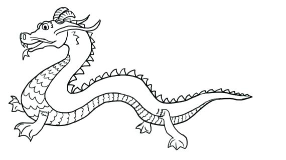 570x320 Dragon Head Coloring Page New Year Drawing Pages Printable Artsy