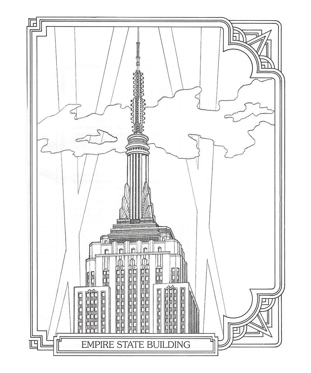 1000x1201 Treasures Llc New York City Manhattan Coloring Book Zulily