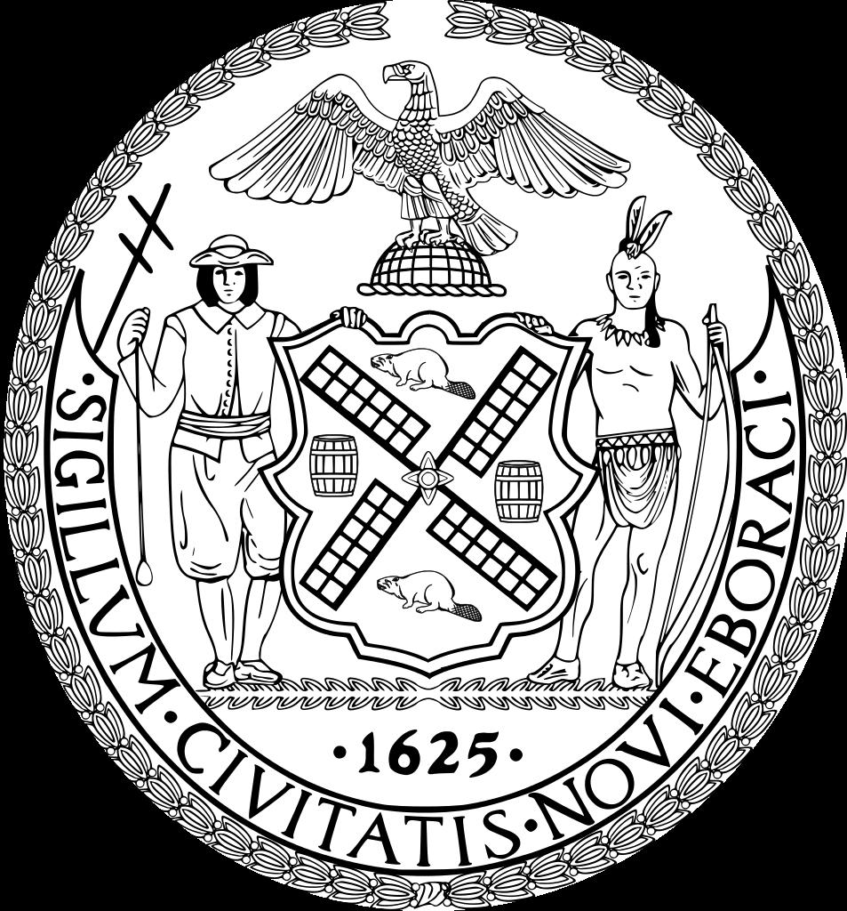 953x1024 Fileseal Of New York City Bw.svg