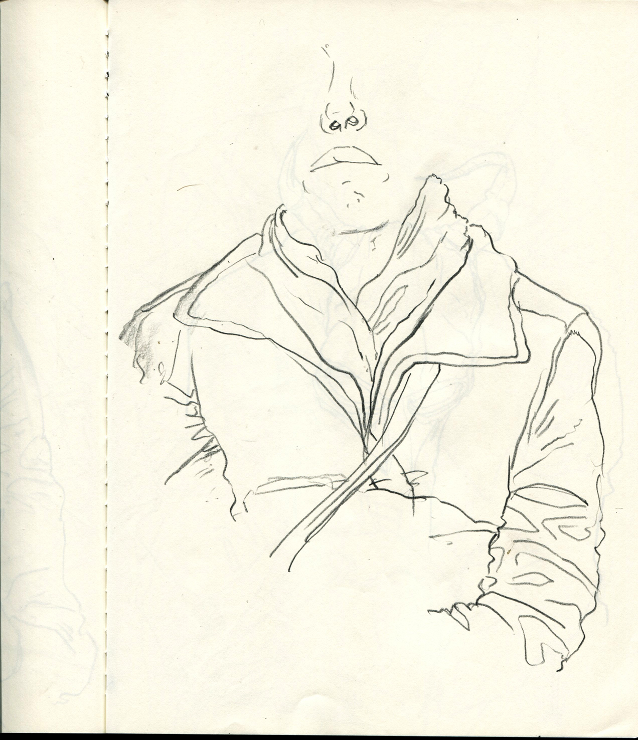 1272x1476 New York City Subway Drawings Of People On The Train Alex Ariza