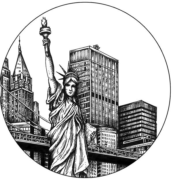 600x627 New York Skyline On Behance