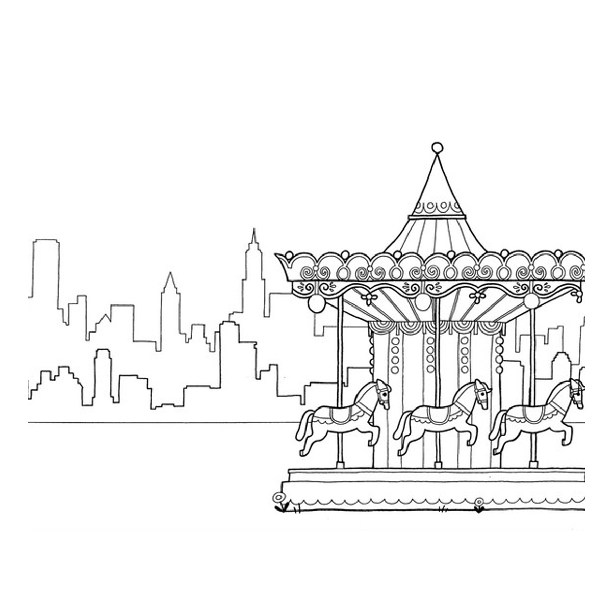 1200x1200 New York Coloring Book Books Storm