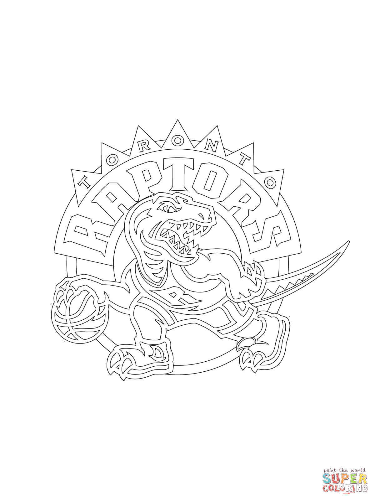 1200x1600 Toronto Raptors Logo Coloring Page Free Printable Pages