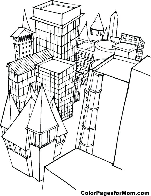 640x833 New York City Coloring Pages Coloring Collection