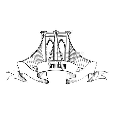 450x450 New York Brooklyn Bridge Symbol Royalty Free Cliparts, Vectors