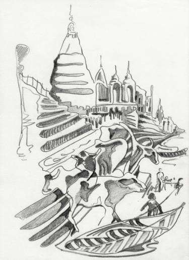 375x515 Buy Original Pencil Figurative Cities Drawings Online Saatchi Art