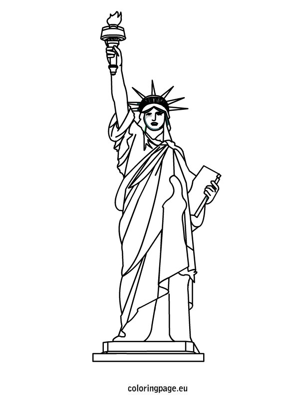 595x804 4th Of July Week Statue Liberty Coloring Sheet Toddler Class