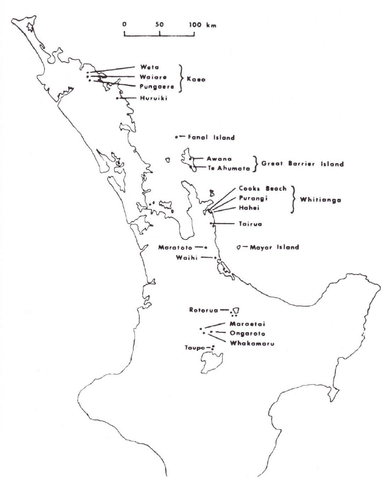 787x994 Map Part The North Island New Zealand Showing Location