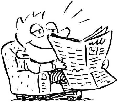 Newspaper Drawing At GetDrawings