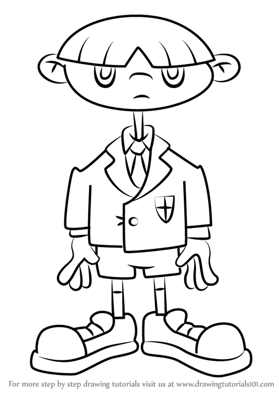 566x800 Learn How To Draw Bruce From Kids Next Door (Codename Kids Next