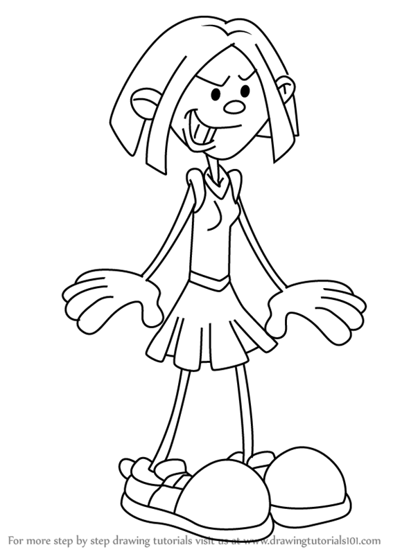 567x800 Learn How To Draw Stacey From Kids Next Door (Codename Kids Next
