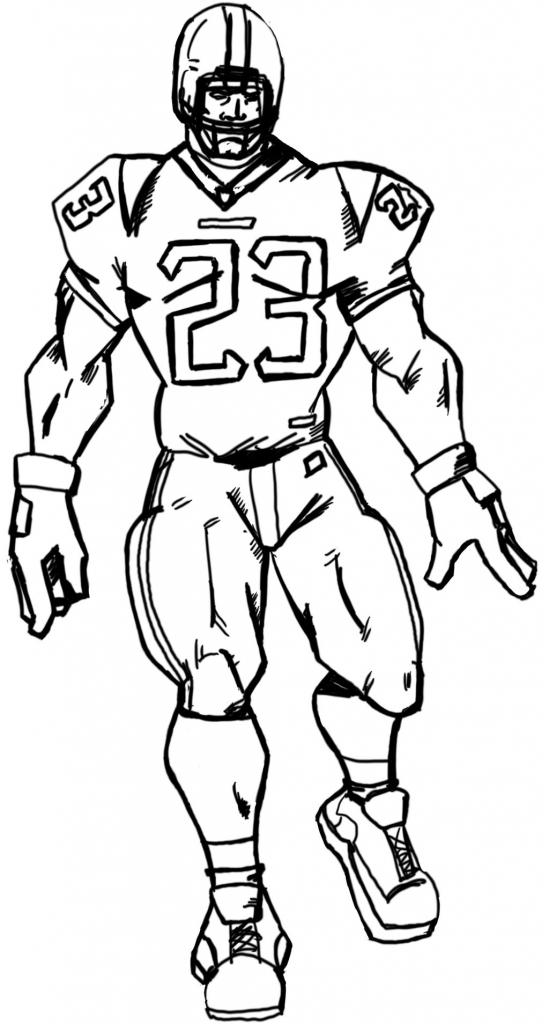 549x1024 Football Player Drawing 14 Pics Of Drawing Nfl Football Player