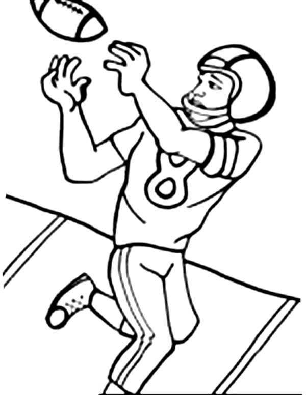 600x776 Printable Football Player Coloring Pages Coloring Me