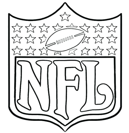 540x557 Printable Nfl Football Coloring Pages