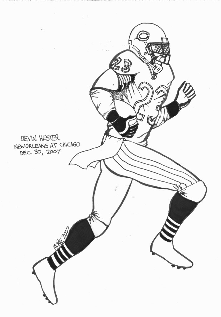 Nfl Football Player Drawing at GetDrawings | Free download