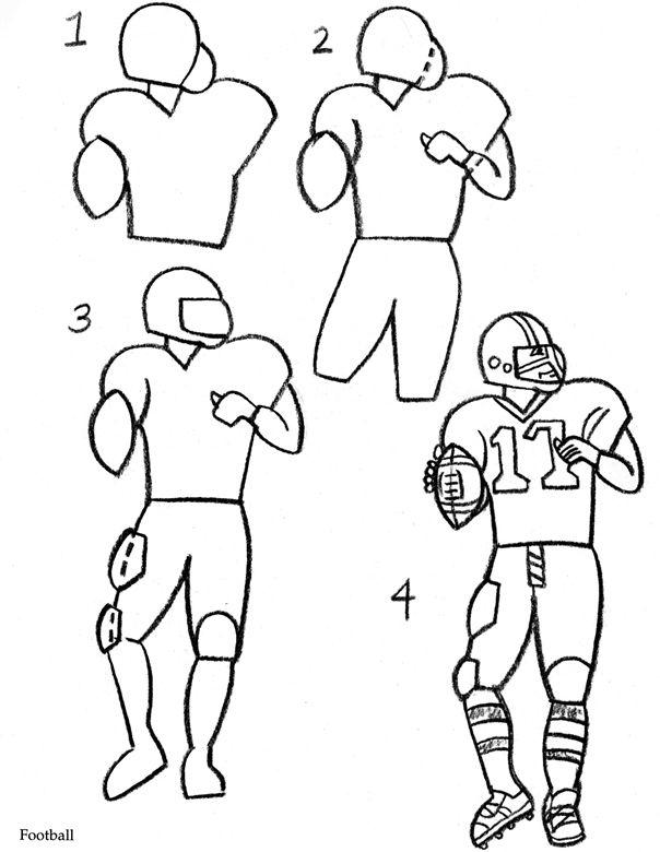 604x780 drawn football football player