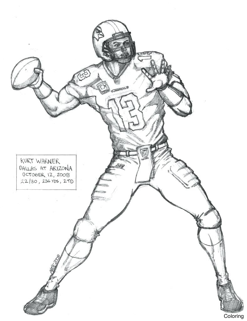 788x1024 Football Player Coloring Pages For Kids Archives Throughout