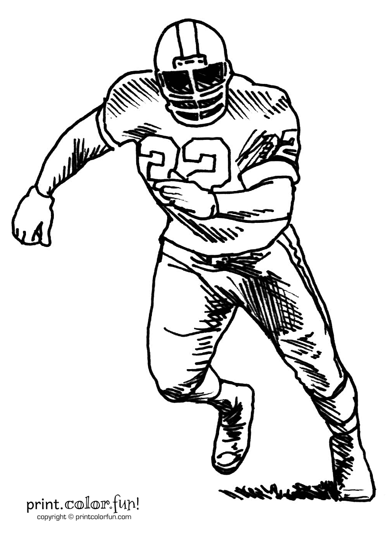 800x1100 Football Players Drawings