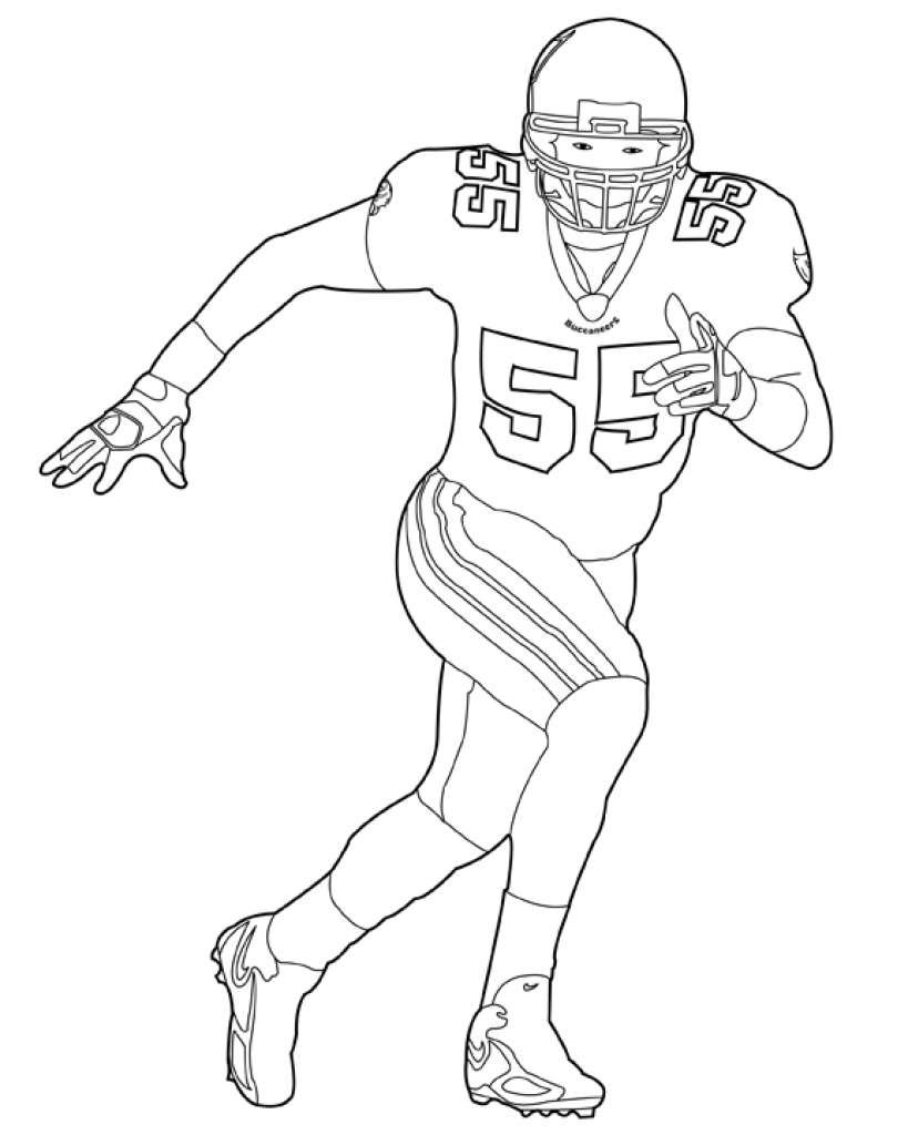 819x1024 Nfl American Football Player Coloring Pages