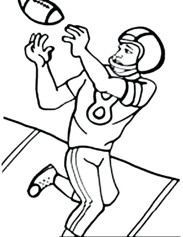 600x776 Printable Football Coloring Pages Football Player Coloring Sheets