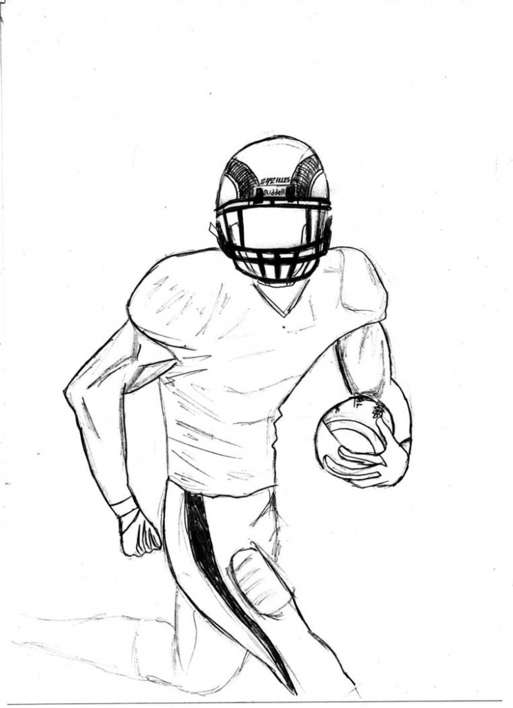 743x1024 Tag How To Draw A Football Player In The Nfl