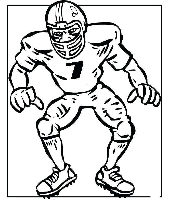 663x786 Football Coloring Book