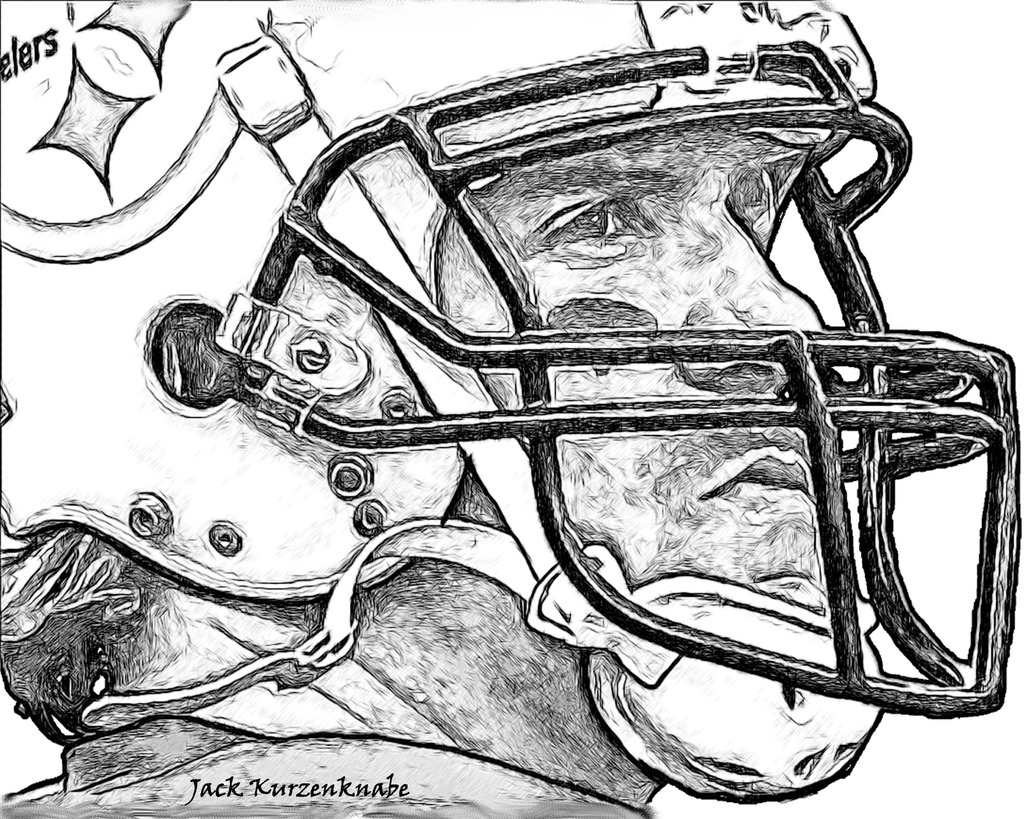 1024x819 Football Player Coloring Pages Printable Coloringstar Football