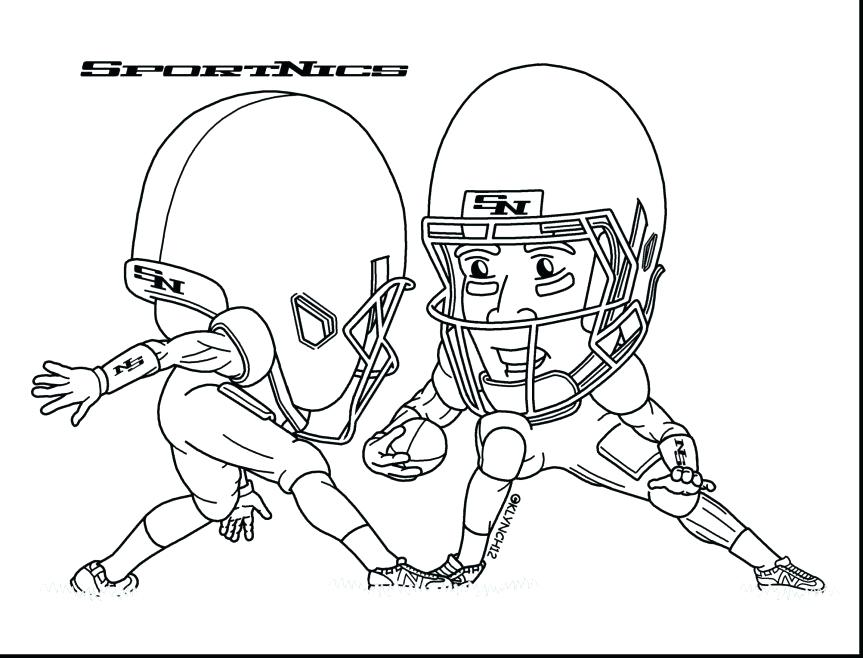 863x658 Football Coloring Pages Nfl Standard Football Coloring Page