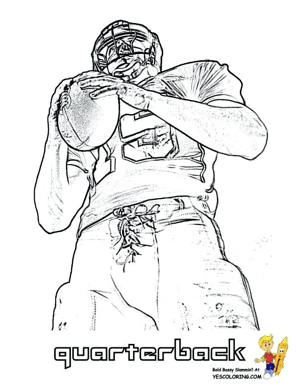 612x792 Football Player Coloring Page Offense Football Player Coloring