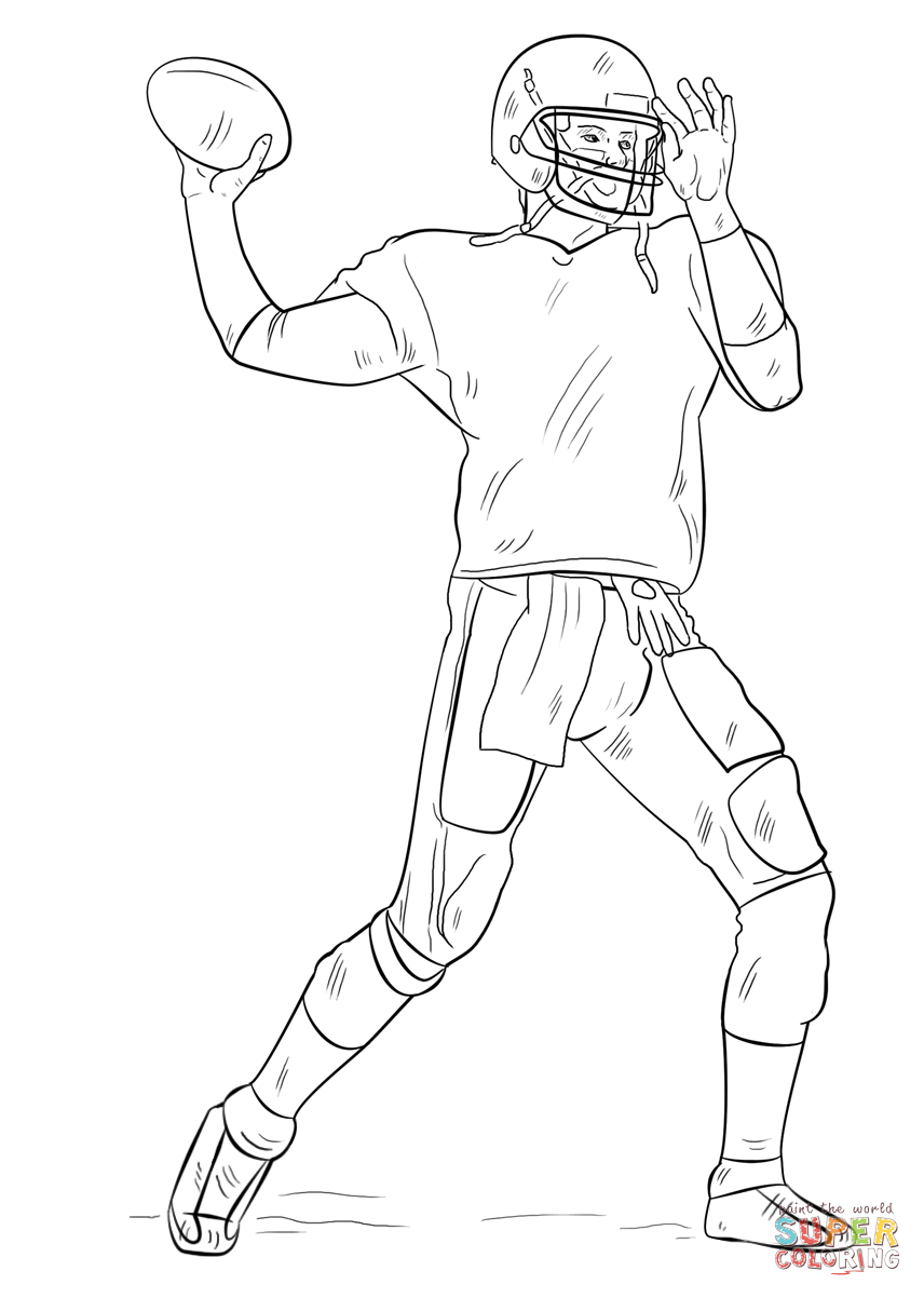 856x1202 Football Player Coloring Page Free Printable Pages
