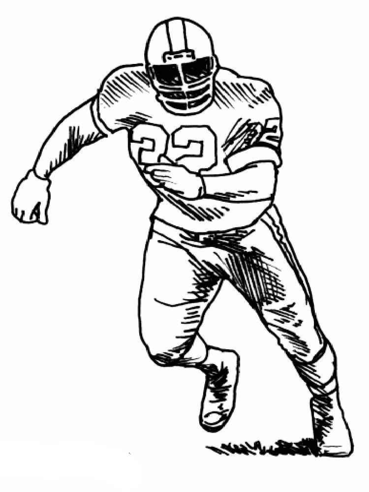 nfl football players drawing at getdrawings com free for personal