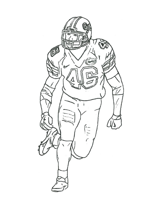 coloring pages football players nfl - photo#9