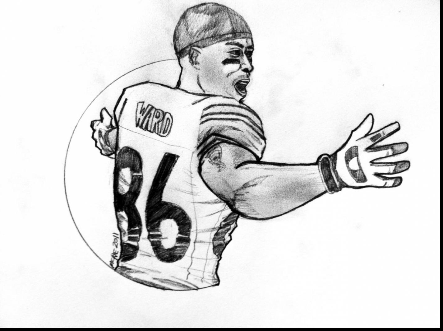 1425x1064 football player coloring page