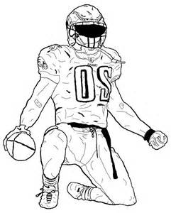 241x300 American Football Player Coloring Pages Sketch Template Sports