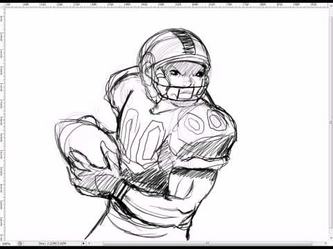 480x360 How To Draw A Nfl Football Player. How To Draw The Body