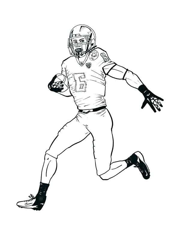 600x776 Nfl Coloring Page