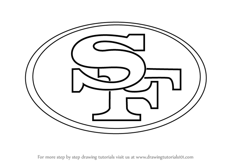 800x566 Learn How To Draw San Francisco 49ers Logo (Nfl) Step By Step