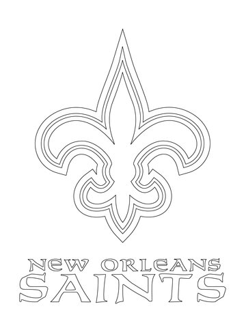 360x480 New Orleans Saints Logo Coloring Page From NFL Category Select