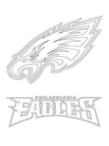 360x480 Philadelphia Eagles Logo Coloring Page Free Printable Pages