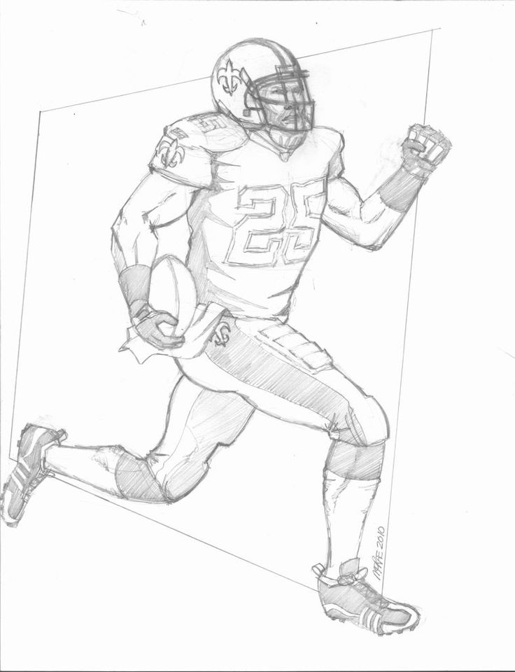 Nfl Player Drawing