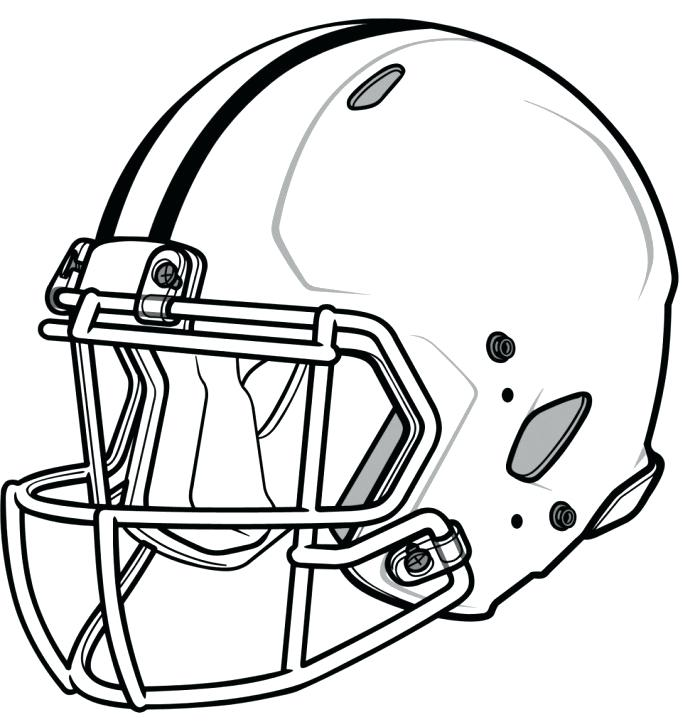 700x727 Football Coloring Page Outline Of Football Equipment And A Book